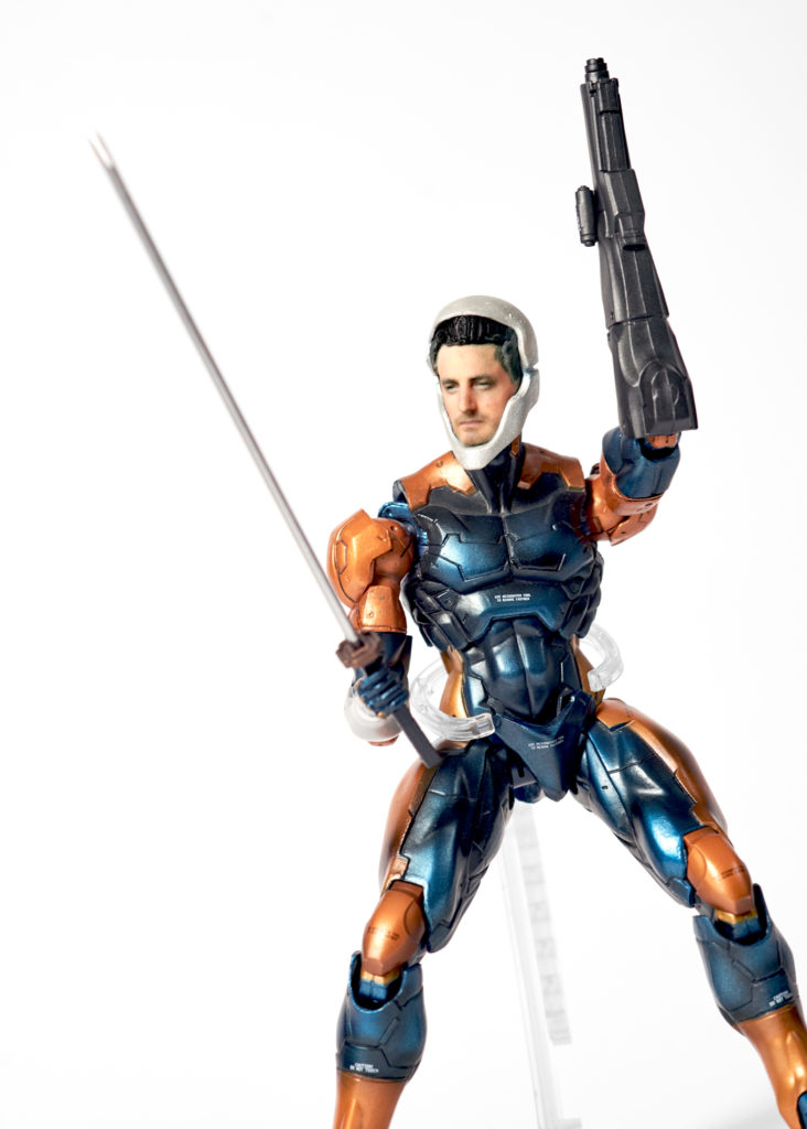 Custom 3D Printed Metal Gear Solid 'Grey Fox' Action Figure